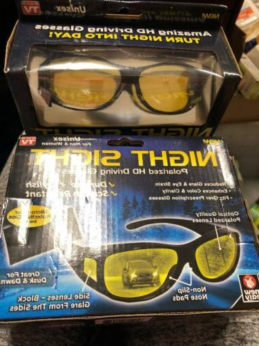 lot of 2 night vision sunglasses polarized