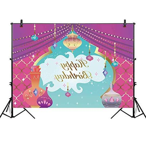 Allenjoy 7x5ft Magic Theme Backdrop for Cake Photography Nights Girl Princess First Baby Table Decor Studio Prop