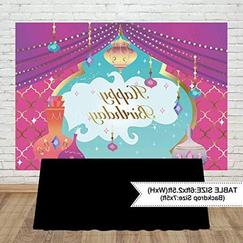 Allenjoy 7x5ft Genie Theme Backdrop Cake Nights 16 Girl Princess First Table Decor Studio Prop