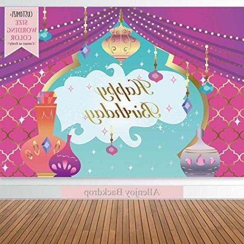 Allenjoy 7x5ft Magic Theme Backdrop for Nights Moroccan Sweet Girl Princess First Shower Table Decor Background Studio Prop