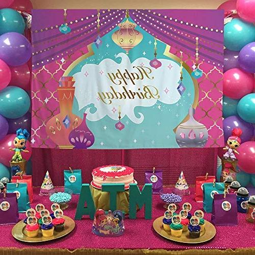 Allenjoy Theme Cake Photography Arabian Nights Girl Twins First Baby Shower Party Table Decor Photo Studio Prop