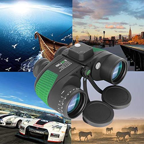 ESSLNB Marine Binoculars Night Vision Compass 7X50 Military Binoculars for Kids BAK4 FMC Floating Binoculars for w/Bag and Floating