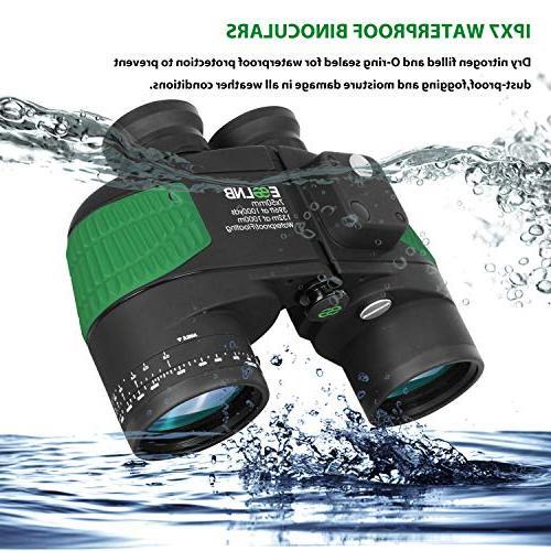 ESSLNB Night 7X50 Military Binoculars Kids Binoculars for Boating Hunting w/Bag and Floating Strap