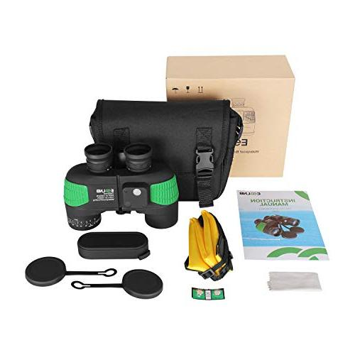 Night Vision Compass Rangefinder 7X50 100% Waterproof Military for Kids w/Bag and Floating