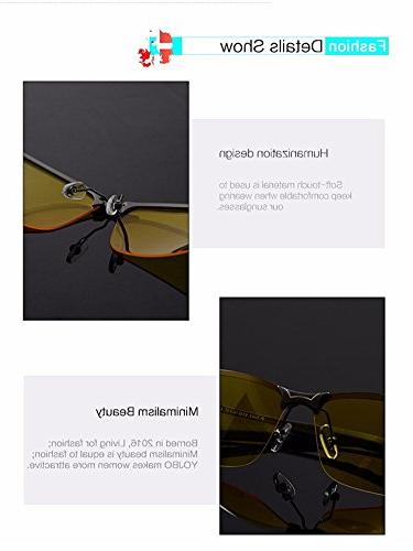 Lorsoul Yellow View Sunglasses Night Fishing Sports