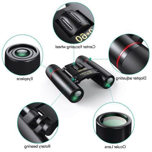 Mini Day Binoculars 30x60Zoom Outdoor Hunt Folding Telescope