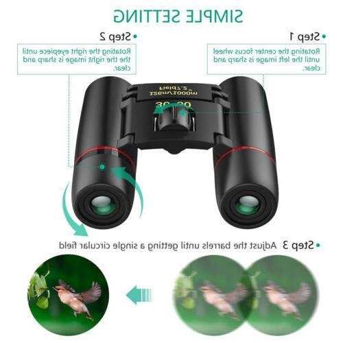 Mini Binoculars 30x60Zoom Hunt Folding