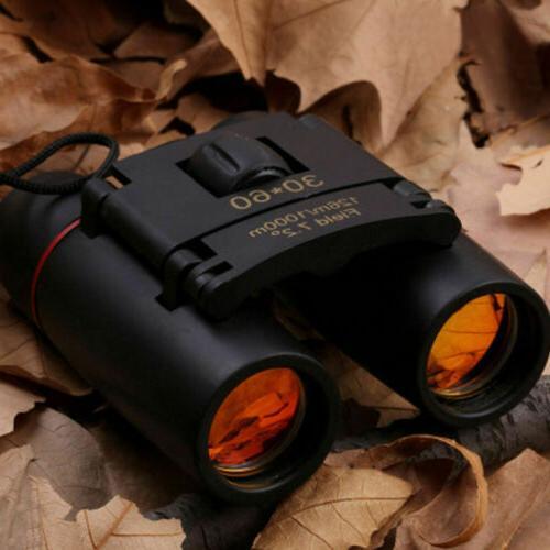 mini day night vision binoculars 30x60zoom outdoor
