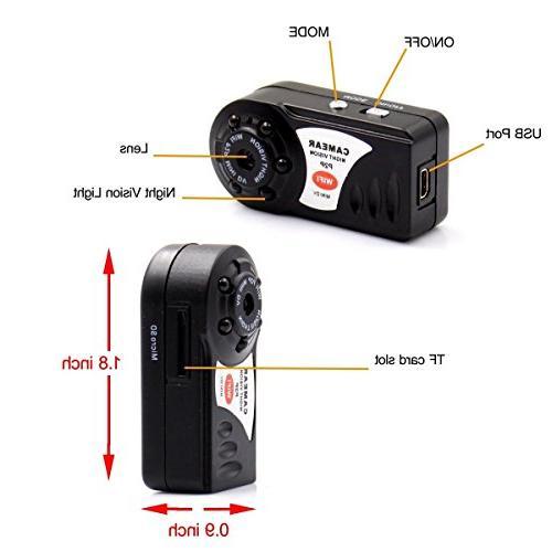 MAGENDARA Mini Camera, Wireless Video With Infrared Night Wireless