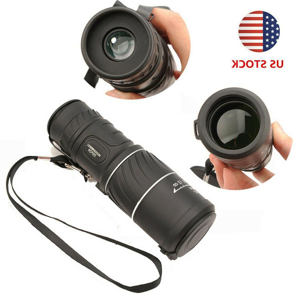monocular 40x60 zoom handheld hd low light