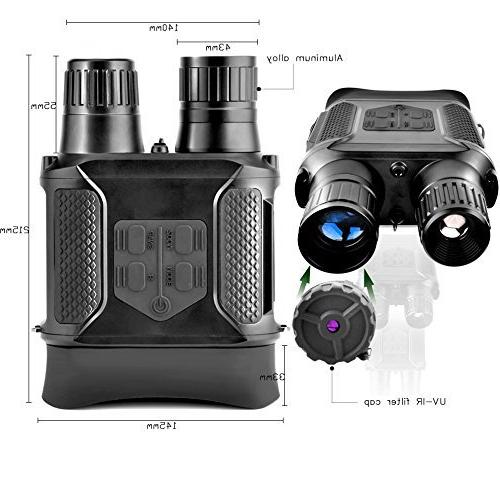Night Infrared Night Vision Binoculars Screen Can Day or Night Photos 640p Video