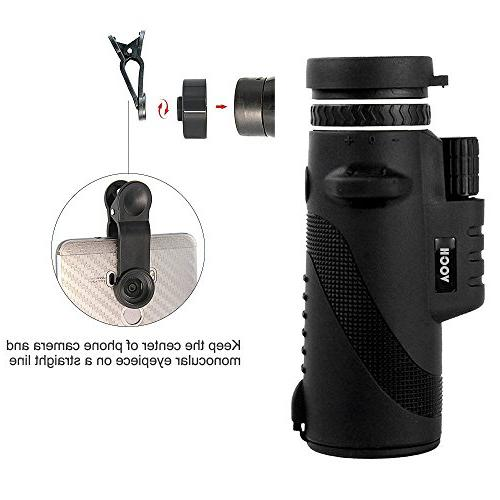 Monocular Telescope, Focus Tripod Capable, Night Scope for Hunting/ Camping/ Hiking / Golf/