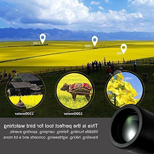Monocular Focus Night Vision, Monocular Scope for Birdwatching/ Hiking / Golf/ Concert/ Surveillance