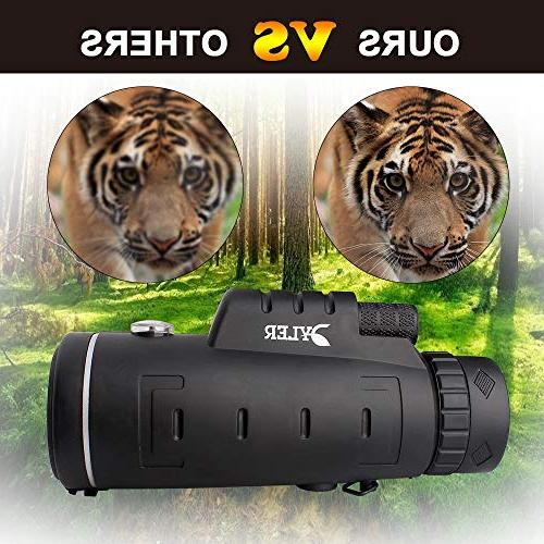 Monocular For Smartphone Dual - Low Night - Zoom - Clip Tripod - Perfect for Hunting, Camping, wildlife