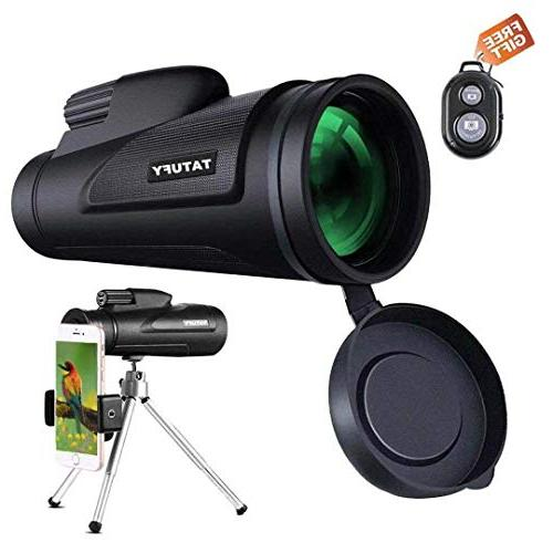 Monocular Telescope, Tatufy 12x50 HD Dual Focus Low Night Vi