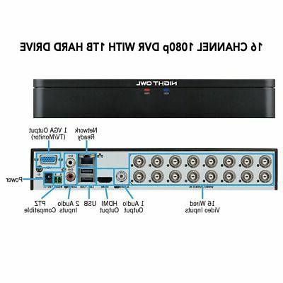 NEW Night Owl 16-Channel 10-Camera 1080p System w/ 1TB DVR