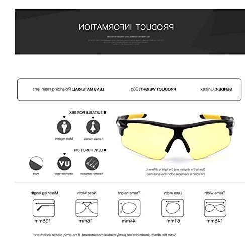 Runworld Men's HD Night Anti-glare Rain Day Night Vision Cycling Sunglasses