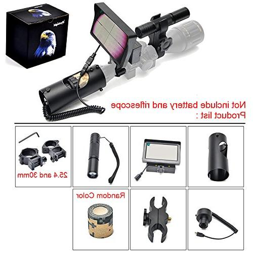 Digital Night Riflescope with and Flashlight Outdoor Hunting