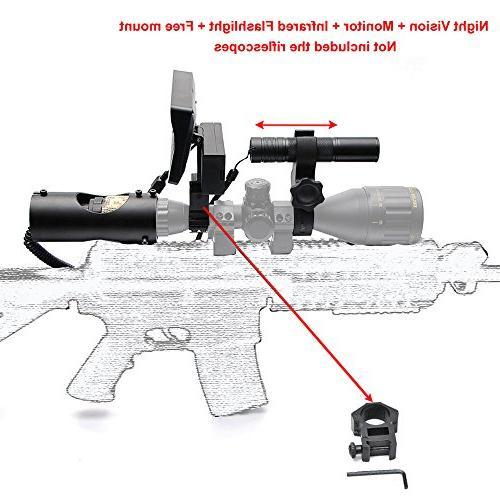 Digital Night Riflescope CCD and Flashlight