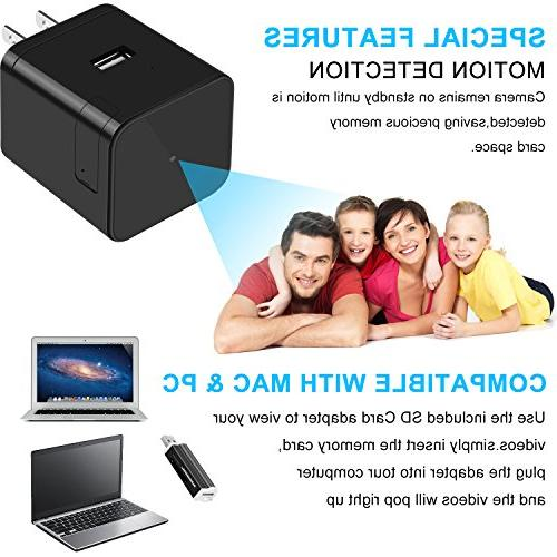 Facamword Night HD WIFI Nanny Camera USB Cam Charger IP Camera Motion