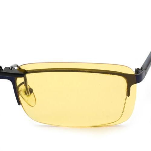Night Vision Polarized Clip On Driving Glasses UV400 Lens