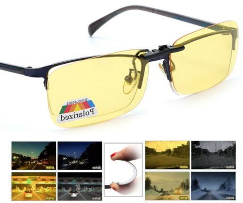 night vision anti glare polarized clip on