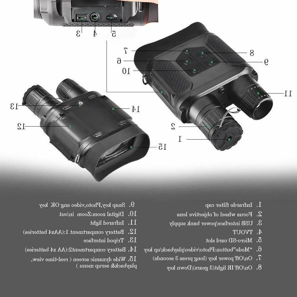 SOLOMARK Vision Binocular Hunting Binoculars Digital Large