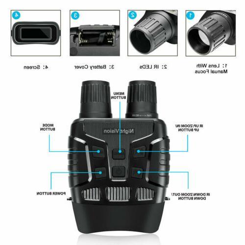 HD Zoom Video Digital Night Vision Infrared Binoculars Scope