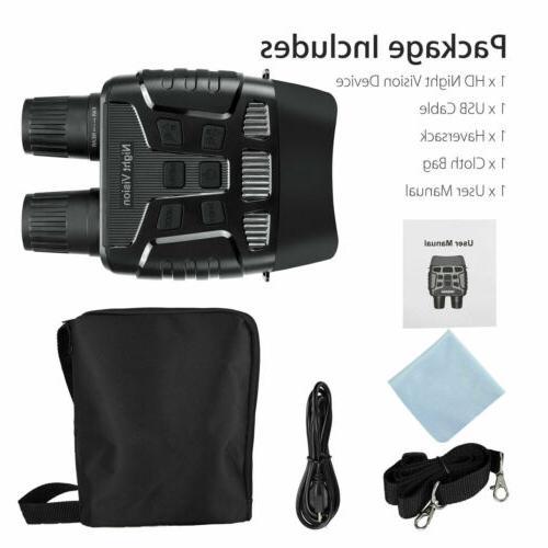 HD Zoom Digital Night Infrared Binoculars Scope IR