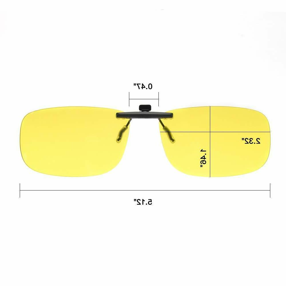 Night Vision Glasses Yellow Anti-glare HD Safety Driving
