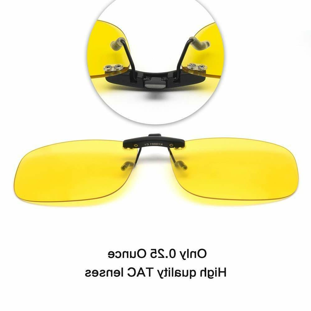 Night Vision Clip-on, Yellow HD Vision, Safety Driving