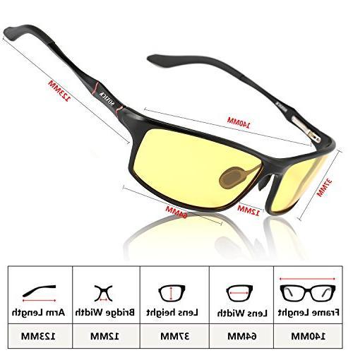 Night Vision Glasses Driving,Polarized Safe Glasses