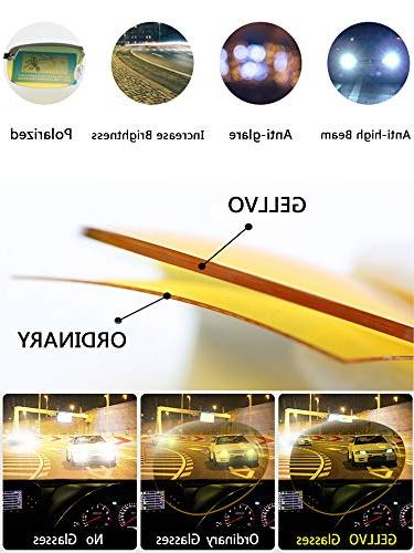 GELLVO Vision and Glare Metal Frame for Fishing Shooting Hunting Silver