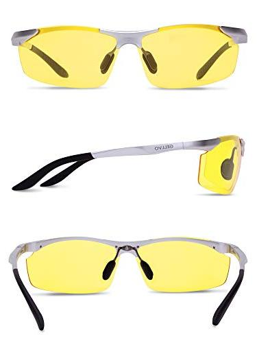 GELLVO Hd Vision Glasses and Glare Lenses Shooting Silver