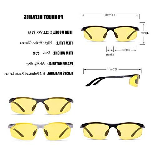 GELLVO Night Vision Glasses for Metal for Fishing Shooting Silver