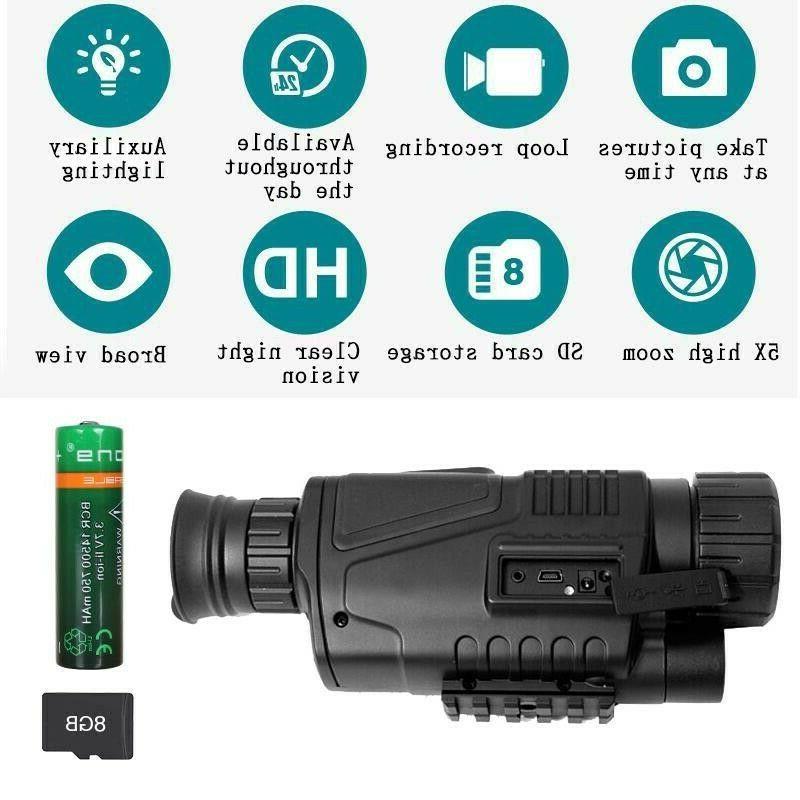 Night Vision INFRARED video camera Monocular Surveillance