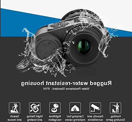 Night Vision Monocular, HD Digital 6x50mm with 1.5 TFT High Power Hunting Photo 720 Video to 350m/1150ft Detection