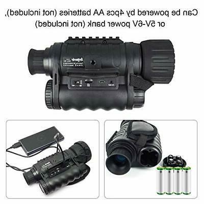 Night Vision Monocular, HD Digital Infrared Camera Scope 6x50mm 1.5 inch