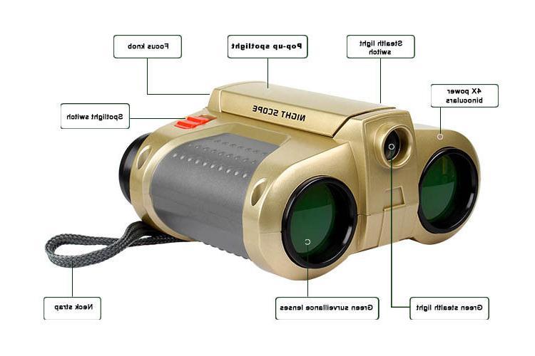 Night Vision Binoculars Telescope Light Gift Kids