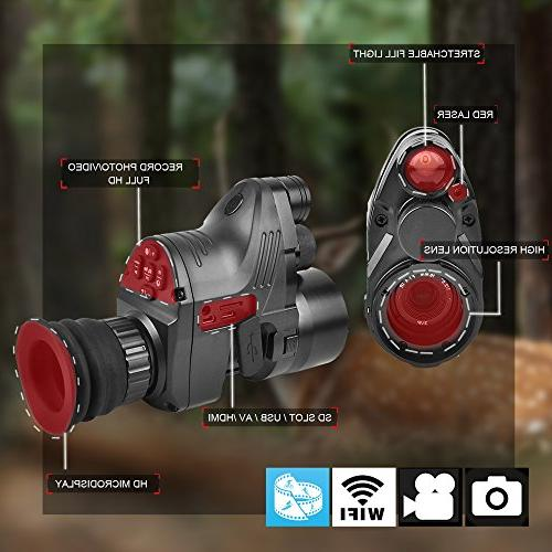 Digital Night Vision- HD WiFi Camera Function Vision Scope Including 32G SD Portable Day&Night Mode for Hunting Night Vision Multi-Functional