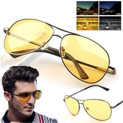 Night Yellow Driving View Sunglasses Shades Glasses Eye Protecti