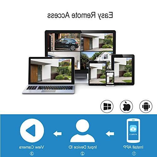 Wireless Camera A-ZONE Wireless NVR 960P Indoor IP P2P, 65ft Night View, Hard