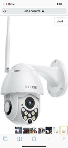 SDETER Outdoor PTZ 4.1X Security Camera Full Color Night Vis