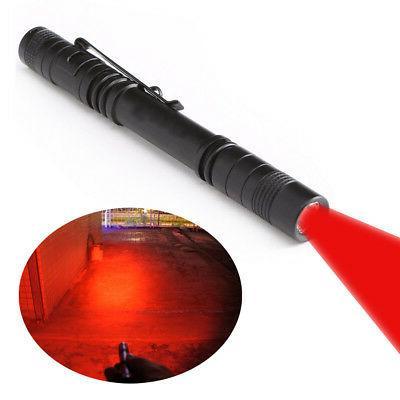 pen type red beam light flashlight torch