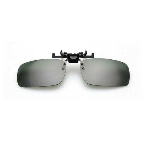 Polarized Clip-on Flip-up Sunglasses Driving Clip