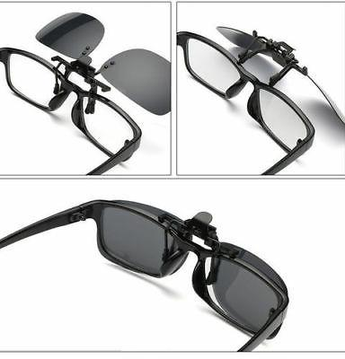 Polarized Day Night Vision Clip-on Flip-up Driving Clip