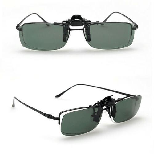 Polarized Day Vision Clip-on Flip-up Lens Driving Glasses