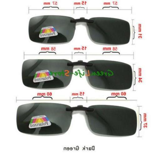 Polarized Flip Clip-on Lens Driving Glasses US