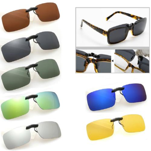 Polarized Day Night Flip Clip-on Glasses Sunglasses US