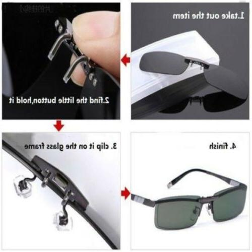 Polarized Day Flip Clip-on Glasses Sunglasses US